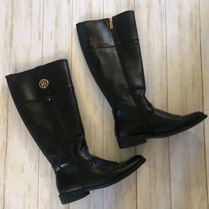 Tommy Hilfiger Knee High Black Boots Size 8.5M